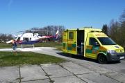 2008 - Bell 427 na heliportu nemocnice ČB
