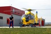 2021- EC 135, start z heliportu Letiště ČB