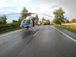 Dopravní nehoda 2 OA a NA, Bošilec - 5. 7. 2014 (2)