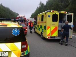 Dopravní nehoda traktor a dodávka, Hůry - 22. 7. 2014 (4)