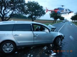 Dopravní nehoda 2 OA, Kladruby - 26. 8. 2014 (4)
