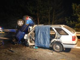 Dopravní nehoda 2 OA, Borek - 28. 11. 2014 (5)