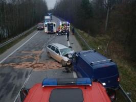 Dopravní nehoda 2 OA, Nová Hlína - 27. 11. 2014 (1)