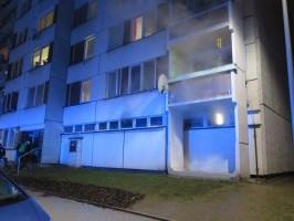 Požár sklepa, Písek - 17. 1. 2015 (1)